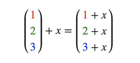 向量与标量运算