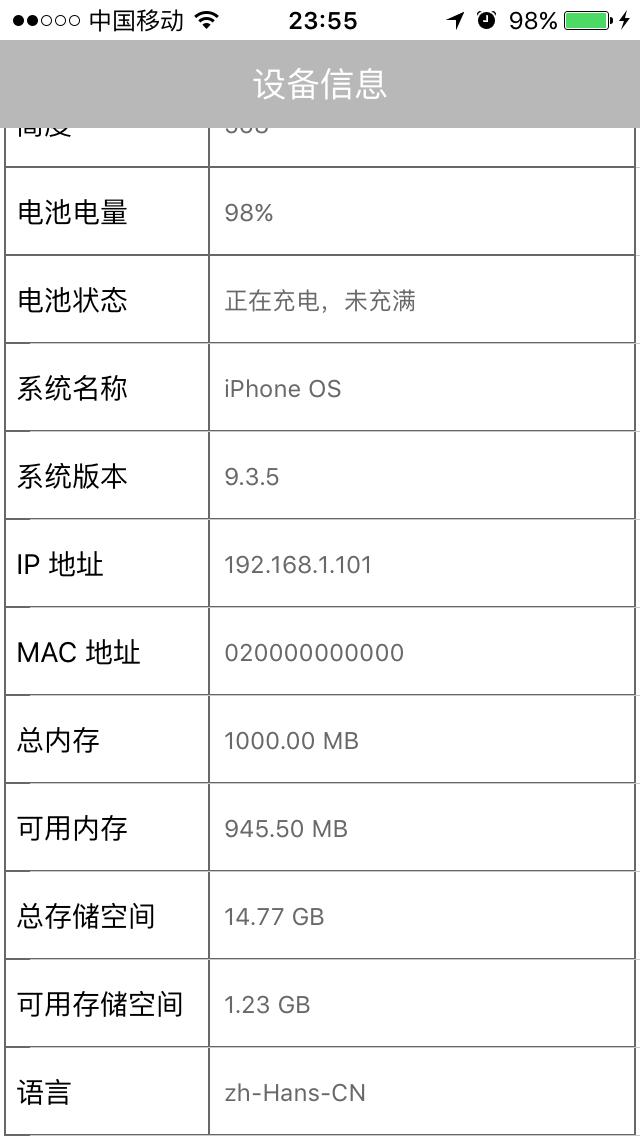 iPhone 5S 信息