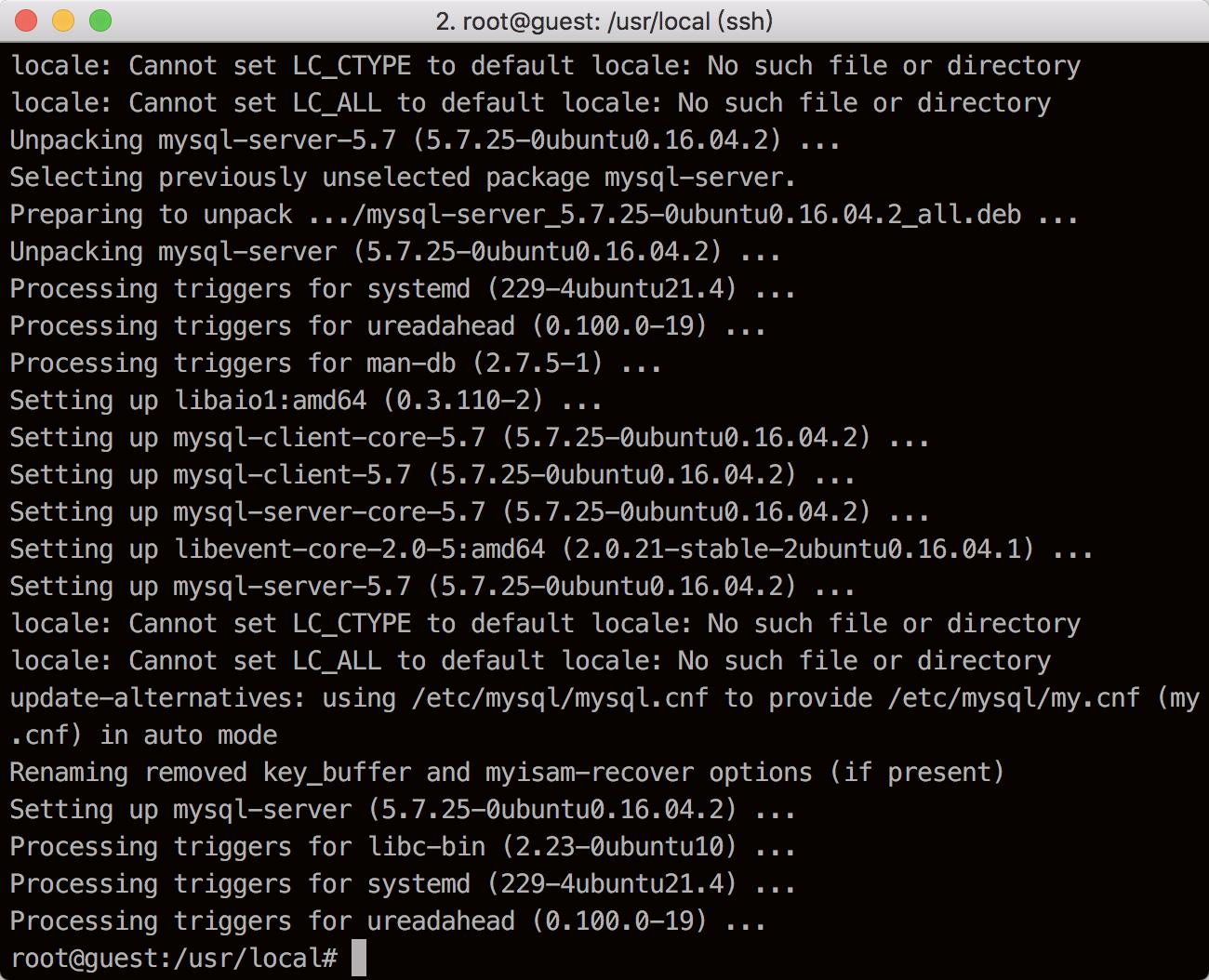 MySQL完成完整